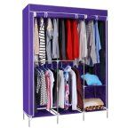 Home Portable Wardrobe Closet Storage Organizer Clothing Rack