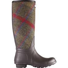 Hunter Original Plaid Rain Boots Womens