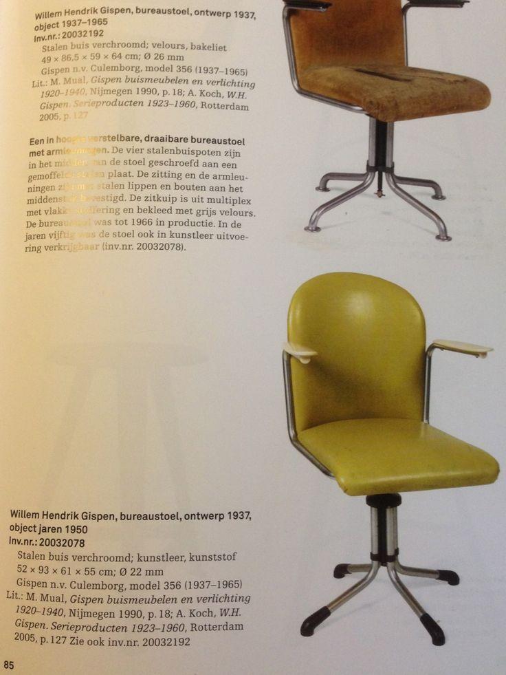 Gispen Desk Chair Model 356, 1950s - Office and Desk Chairs - Chairs - Furniture   Gispen Desk Chair Model 356, 1950s €675.00