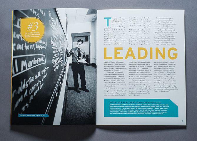 American University Annual Report 2012-2013 - Rena Münster | Graphic Design