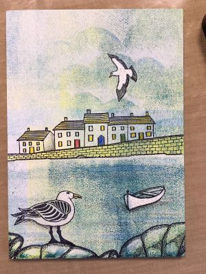 Oh I do like to be beside the seaside! A Harbour Canvas Step by Step | Barbara Gray's Blog. One Day at a Time. | Bloglovin'