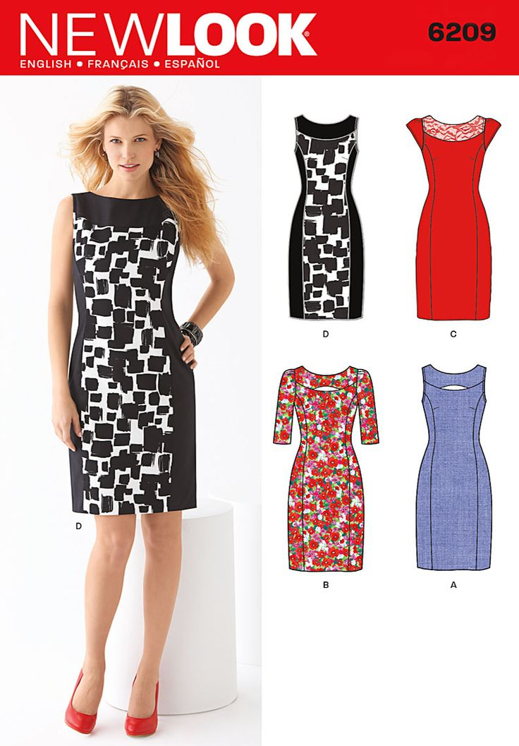 Womens Printed Pencil Sleeveless Pencil Dress New Look