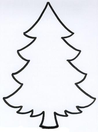 Silueta árbol de Navidad.                                                                                                                                                     Más