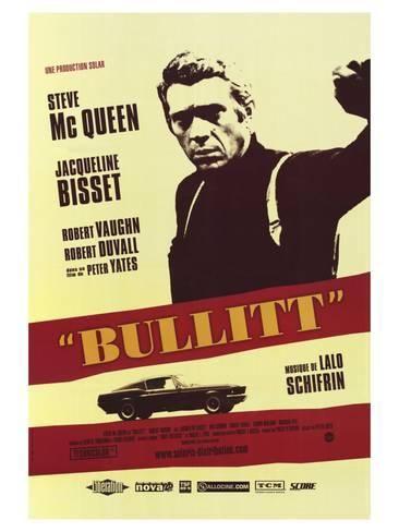 Bullitt French Movie Poster 1968 Art Print Art Com French Movie Posters Movie Posters Steve Mcqueen Movies