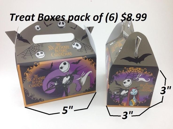 the nightmare before christmas happy birthday party decoration treatbox jack