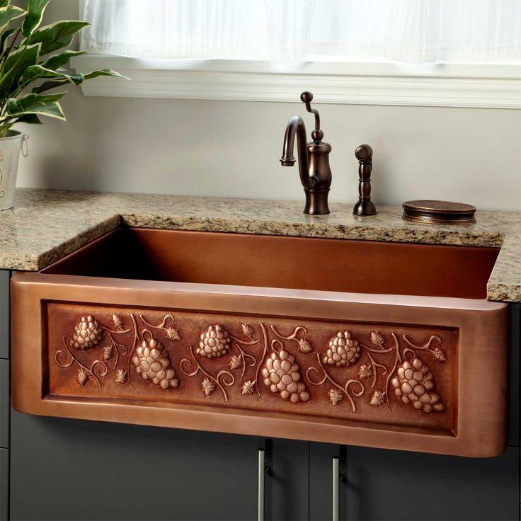 """33"""" Tuscan Series Copper Farmhouse Sink"""