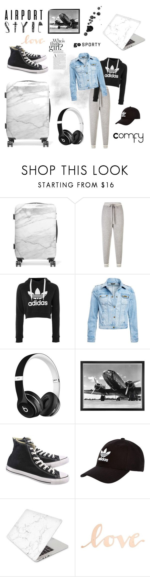 """Comfy AirPort Outfit"" by isabel-zagers ❤ liked on Polyvore featuring CalPak, ZoÃ« Jordan, adidas, Barbour International, Beats by Dr. Dre, Eichholtz, Converse, adidas Originals, Recover and Primitives By Kathy"