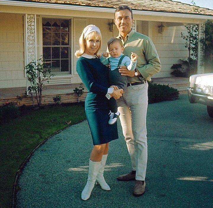 Barbara Eden and family, mid 1960s.