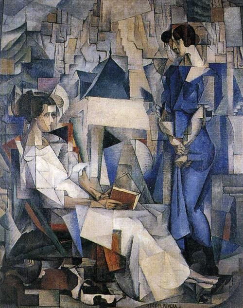 Portrait of Two Women, (1914)   Diego Rivera