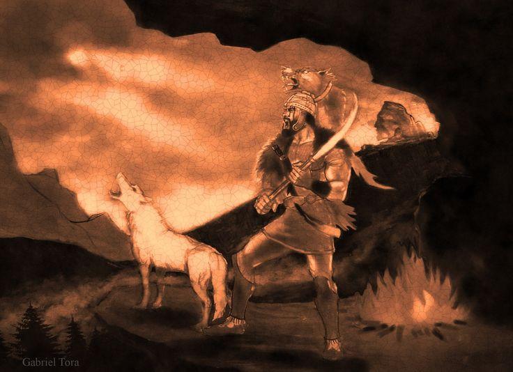 dac daci dacii dacia dacul geto dac dacian falx sica lup alb white wolfe draco dracones zamolxe arta desen vechi gabriel tora heroic fantasy