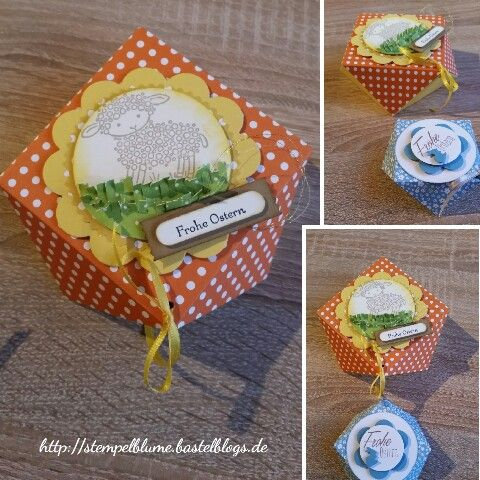 StampinUp!, Easter Lamp, Origami Verpackung, Ostern...dank einer Kundin entdeckt und gleich ausprobiert, Anleitung auf meinem Blog...