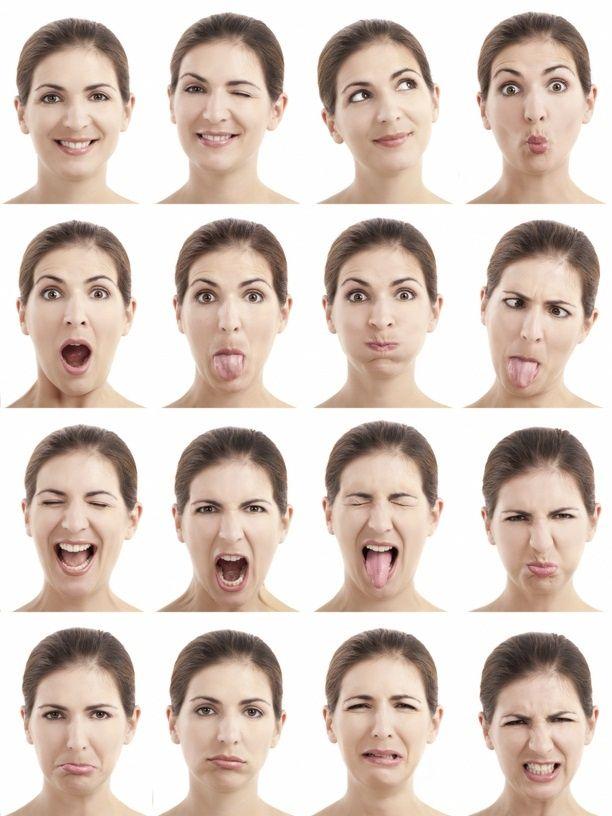 expresiones faciales - Buscar con Google                                                                                                                                                                                 Más