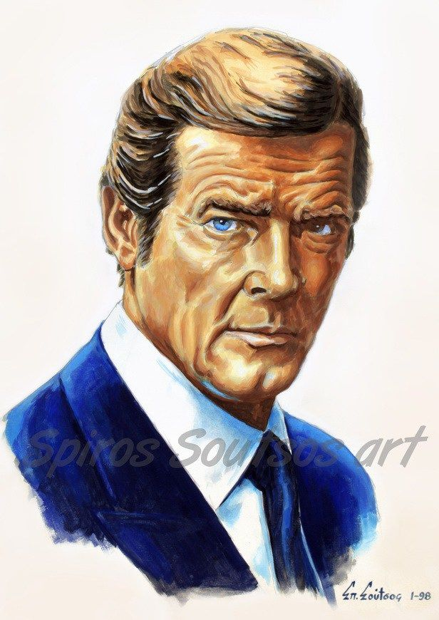 Roger Moore Painting Wall Movie