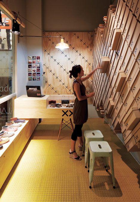 Bestias XX shop por Move Architects. Fuente shopdesigngallery.com #Interiorismo #corporativo.
