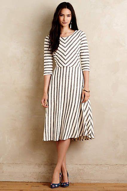 Lizavetta Striped Midi Dress - anthropologie.com