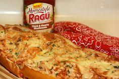 Spaghetti Stuffed Garlic French Bread
