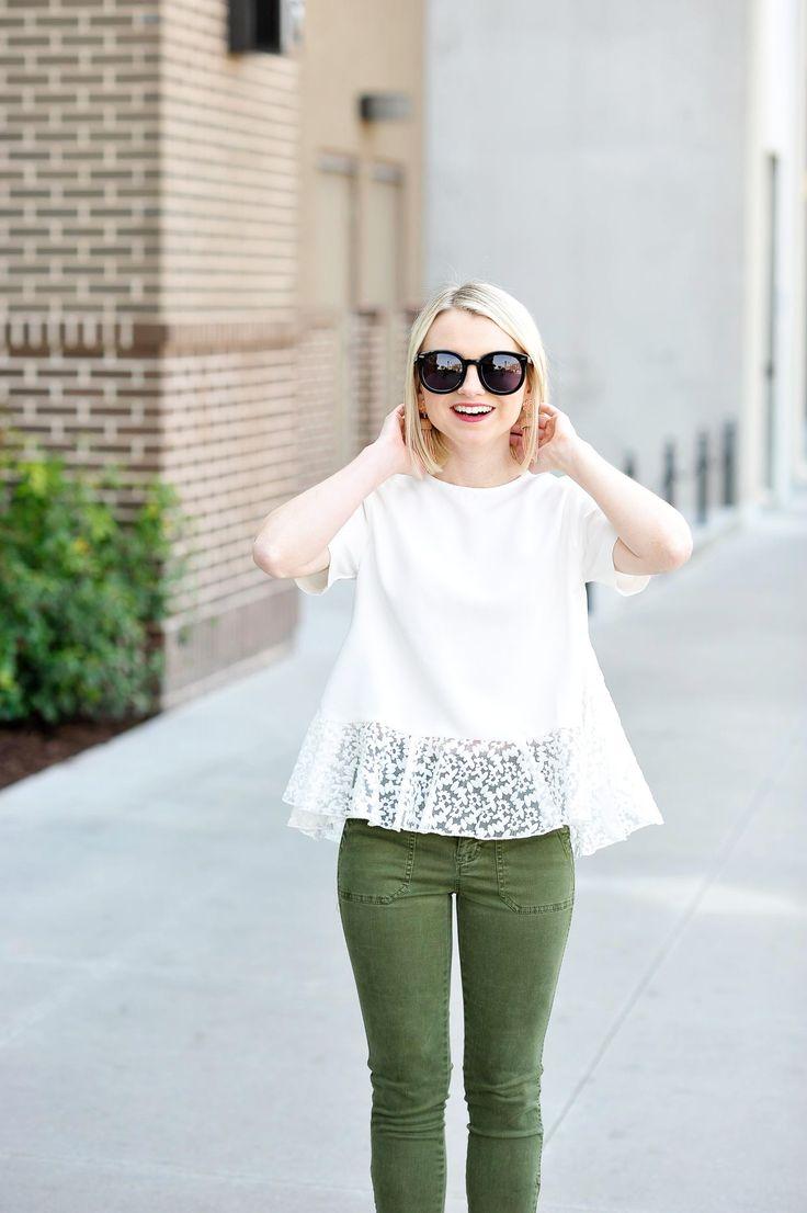 White Peplum Top - Spring Style - Poor Little It Girl