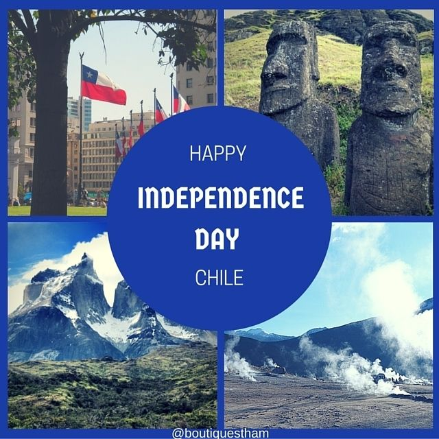 Felices Fiestas Patrias Chile! Enjoy it with an empanada or by drinking some delicious Chilean wine