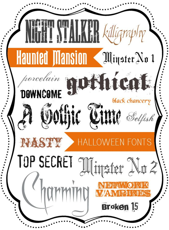 a round up of 16 free halloween fonts with easy links to - Good Halloween Font