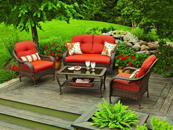 Outdoor Patio Furniture Conversation Sets Clearance Outdoor Wicker Chairs 4  Pc Chat Set Tempered Glass Top - 17 Best Ideas About Wicker Patio Furniture Clearance On Pinterest
