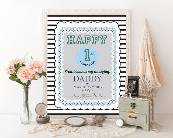 First Fathers Day Personalized gift from son Printable Fathers
