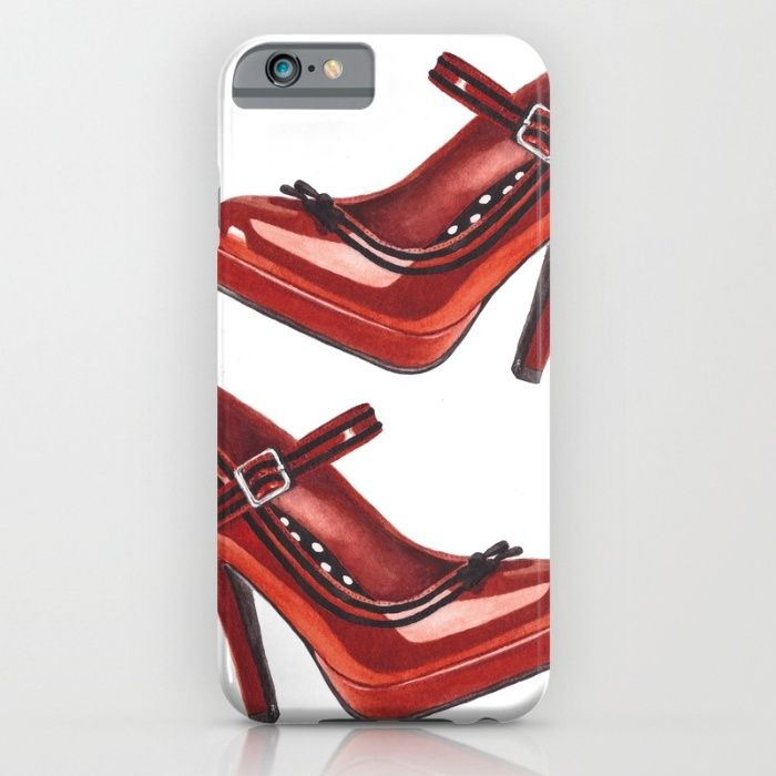Shoe. Red Stiletto. iPhone & iPod Case by The Willow Wood Studio   Society6