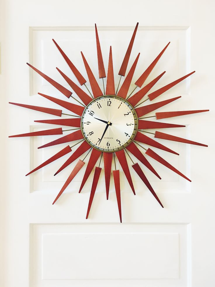 Perk Up Any Wall With Playful, Retro Style Thanks To Our Wood And Brass  Starburst