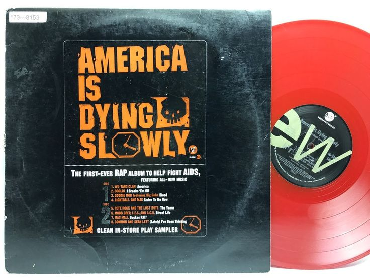 """America Is Dying Slowly 12"""" Promo WU-TANG CLAN - RED Vinyl, Record, LP, Album"""