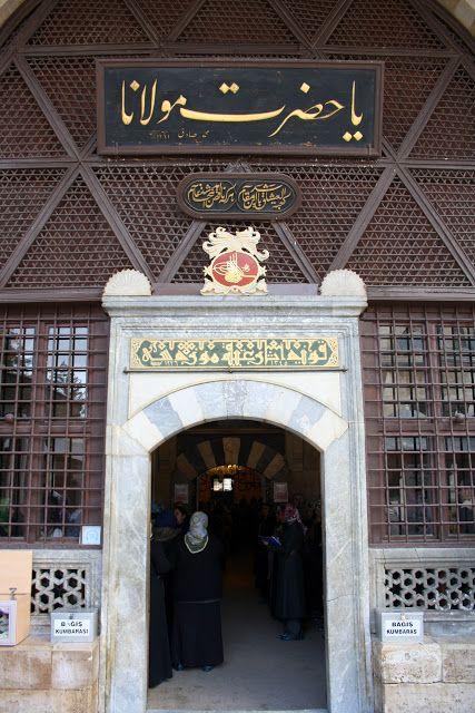 Konya Mevlana müzesi Huzur-i Pir bölümü girişi.