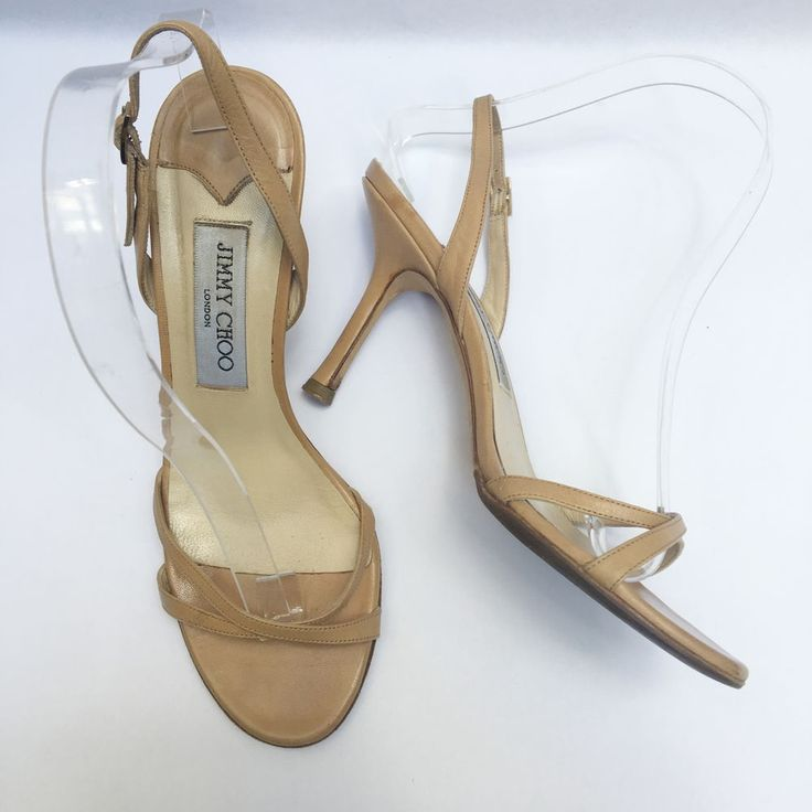 Jimmy Choo Charol Nude Tacones De Cuero Sandalia Redonda Punta Abierta Gatito Clásico 7.5 | Ropa, calzado y accesorios, Calzado de mujer, Tacones altos | eBay!