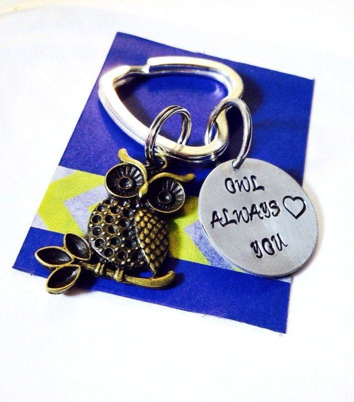 Owl Key Chain - Owl Always Love You Key Ring - Love key chain - Owl key ring - I Will Always Love You - Owl Gift