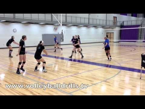 The best youth volleyball players do a Shuttle Warm Up
