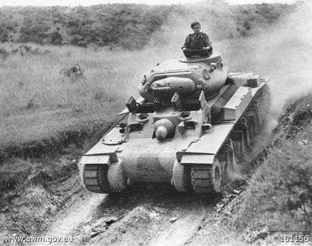 """The Australian Cruiser tank Mark 1 (AC1) was designated """"Sentinel"""" in February 1942. Fabrication was by Sydney's Chullora Tank Assembly Shops with serial production vehicles emerging in August 1942"""