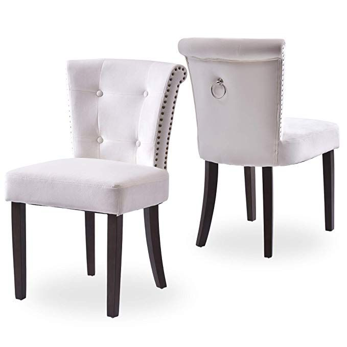 Flieks Dining Chairs Upholstered Tufted Parsons Chair Modern