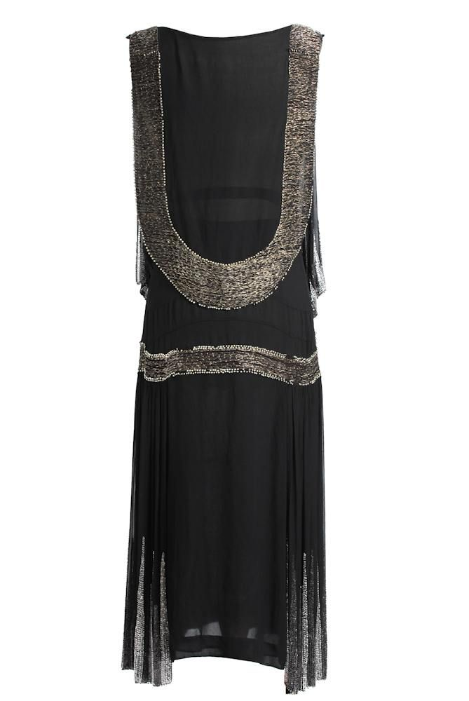 20S Style Clothing | Roaring 20s Flapper Dress by famous American Designer Hattie Carnegie.
