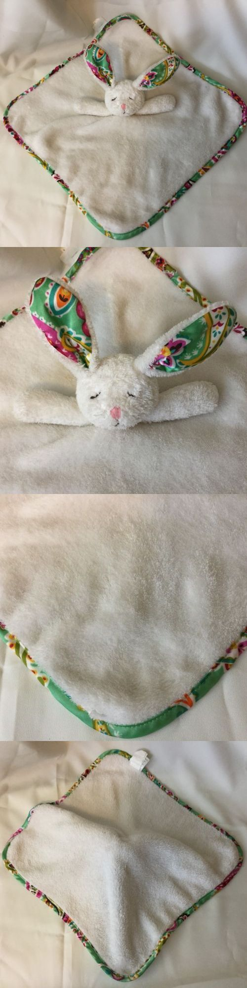 Blankets and Throws 3081: Vera Bradley Baby Lilli Bell Bunny Lovey Baby Security Blanket White F10 -> BUY IT NOW ONLY: $39.99 on eBay!