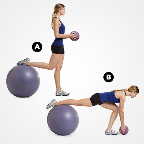 The muscle-building medicine/Swiss ball workout is everything you need for a fit, lean body. Get the ENTIRE workout here.