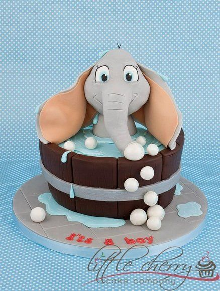 Baby Shower (or should I say Bath!) Cake by Little Cherry Cake Company