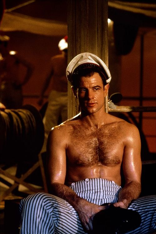 perfectspecimens:  Brad Davis in a still photo from Querelle (Rainer Werner Fassbinder, 1982) based on the 1947 novel Querelle de Brest by Jean Genet.