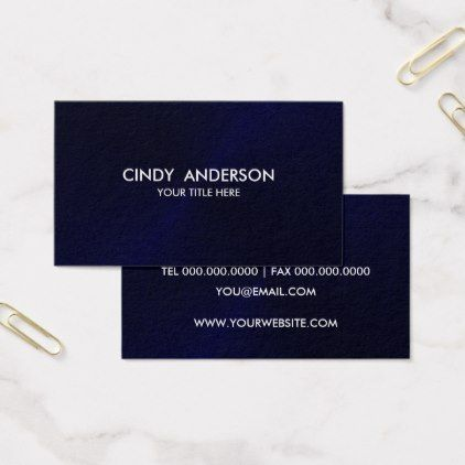 Navy Blue Brushed Metal Sheen Business Card - brushed metal gifts cool unique special gift idea