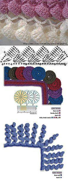 Crochet Scheme, Кайма Крючком,