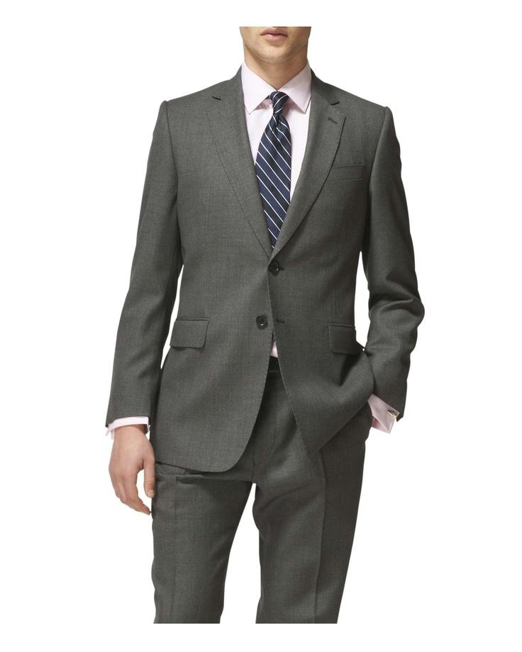 Charcoal Birdseye Suit #JaegerWoolWeek  Classy!