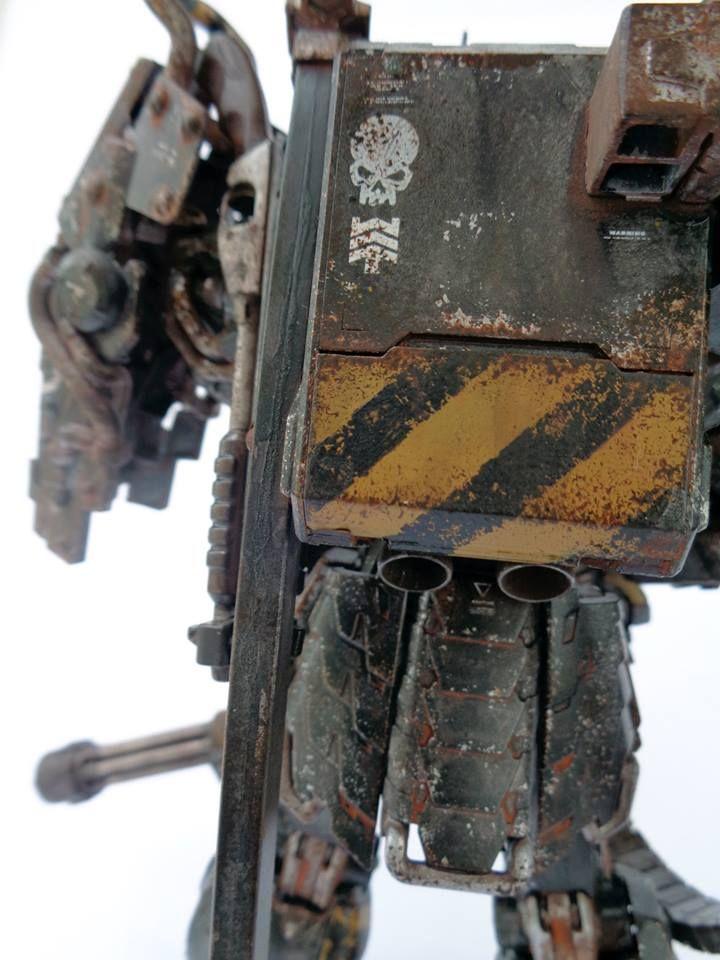 Japanese diesel punk custom gundam. one of seven samurai series.  musha gundam mg base, mg heavyarms gattling gun and back pack of hg RX-79.