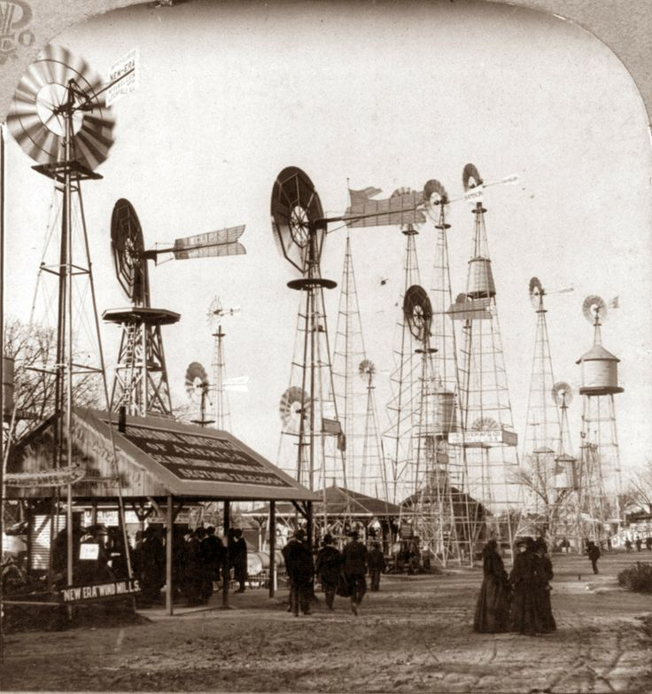 1904: Windmills for sale, World Fair, St Louis                                                                                                                                                                                 More