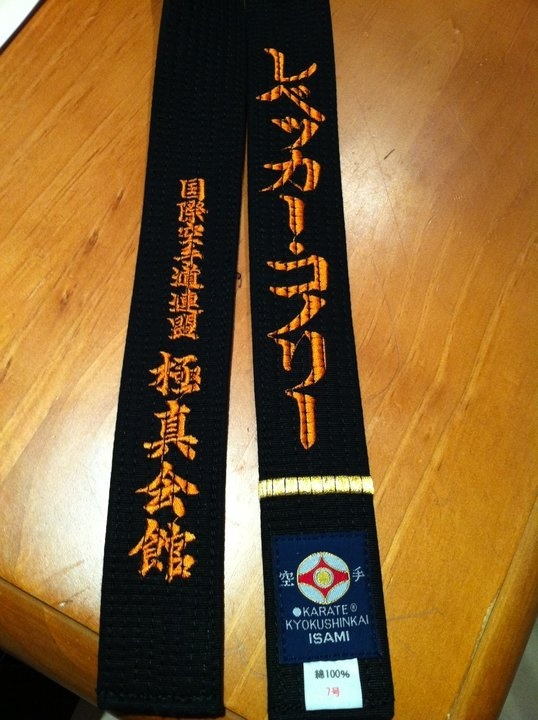 My pride enjoy my blackbelt which I achieved 26th June 2011