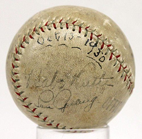 Babe Ruth Lou Gehrig Signed Autographed Baseball Cochrane U07382 - PSA/DNA Certified - Autographed Baseballs >>> Be sure to check out this awesome product.