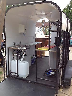I love the idea to convert a horse trailer into a kurtos selling trailer.. Such a simple but usable idea..