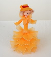 How to make a hat for the nylon flower doll