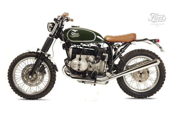 BMW R80 ST Street Tracker - Fuel motorcycles. Una moto basada en las antiguas carreras International Six Days Trials de los 60. Barro y bosques son su lema.