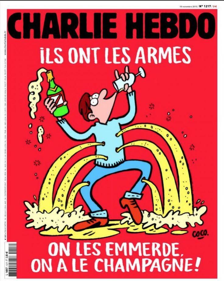 Charlie Hebdo нарисовал еще одну карикатуру на теракты в Париже - http://russiatoday.eu/charlie-hebdo-narisoval-eshhe-odnu-karikaturu-na-terakty-v-parizhe/                              Новая карикатура, посвященная парижским терактам, появится наобложке номера французского сатирического журнала Charlie Hebdo, который пост